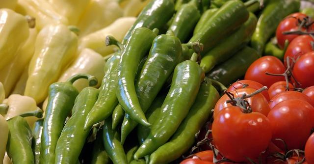 papriky, rajčata