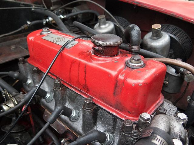 černočervený motor