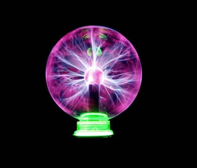 fialová lampička