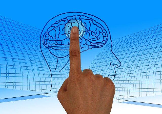 prst klepající na mozek zapínající funkce